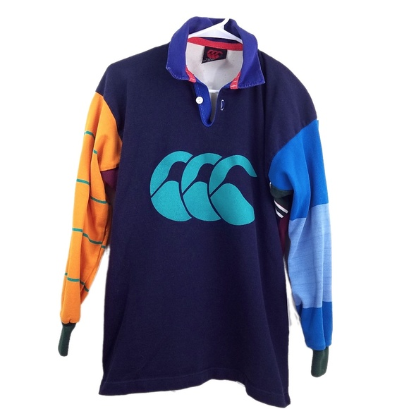 7c113df9270 Canterbury of New Zealand Other - '90s Canterbury of New Zealand Striped Rugby  Shirt